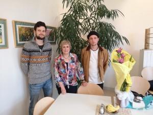 Bild für Zeitzeugenbesuch (II): Frau van der Walde zu Besuch